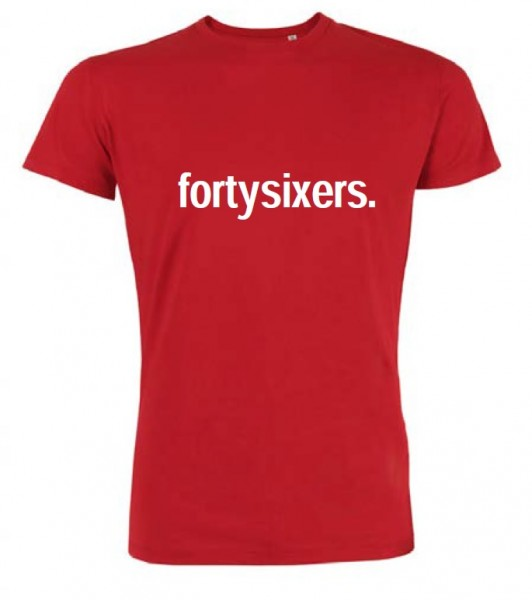 "T-Shirt ""fortysixers."" Damen, rot"
