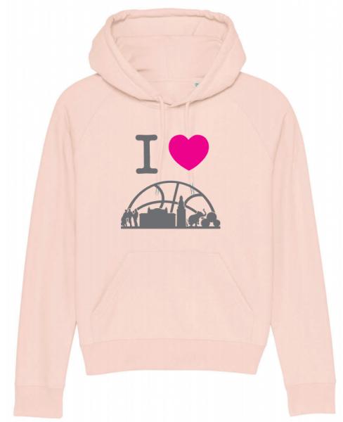 City-Kollektion Damen Hoodie in Candy Pink