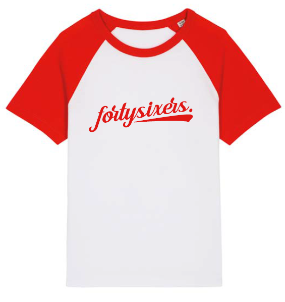 fortysixers Kinder-Shirt, rot-weiß