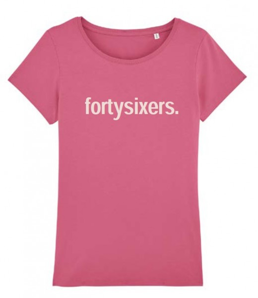 "T-Shirt ""forrtysixers."" pink"