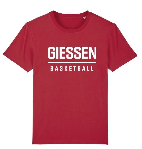 GIESSEN BASKETBALL-Shirt, rot, Kinder
