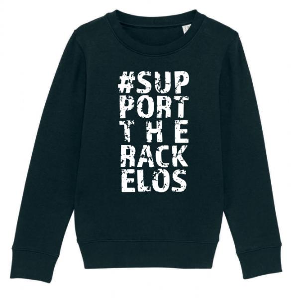 Rackelos-Kollektion Kinder Sweatshirt in Schwarz