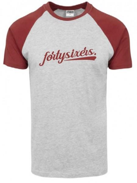 fortysixers Raglan-Shirt, heather grey/ rusty